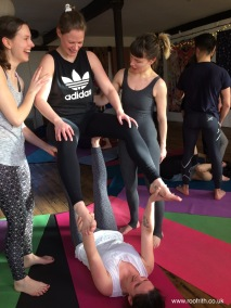 Partner Yoga Workshop at Moseley Yoga, February 2018